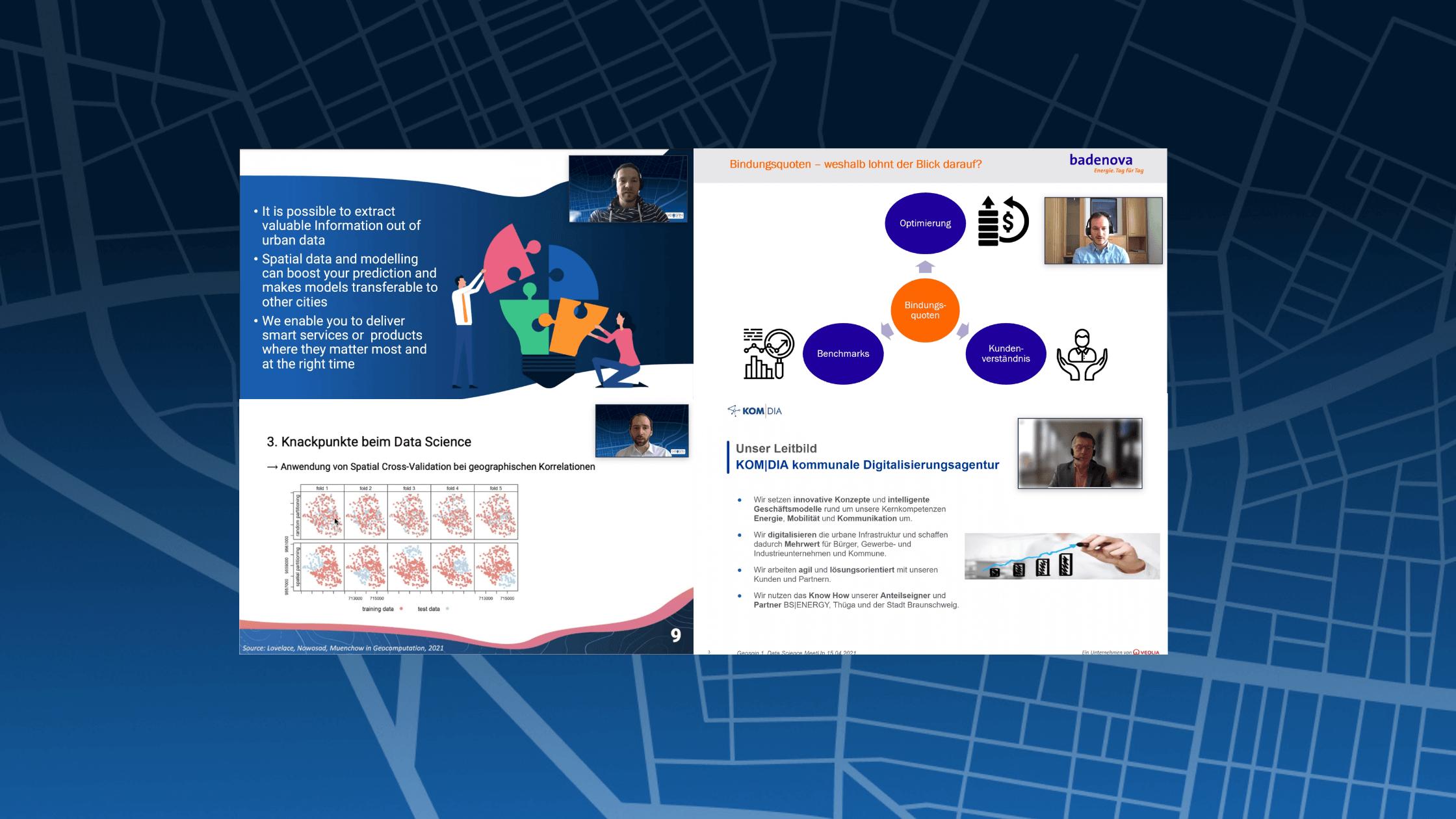 Expertise vernetzen – Geospin Data Science Meetup 2021